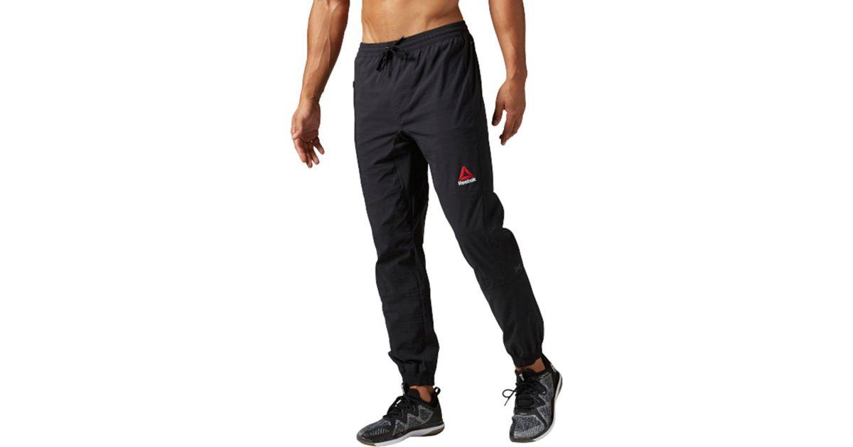 reebok woven joggers