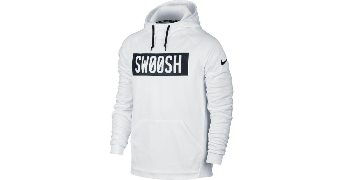 Nike Synthetic Therma Bar Swoosh Hoodie