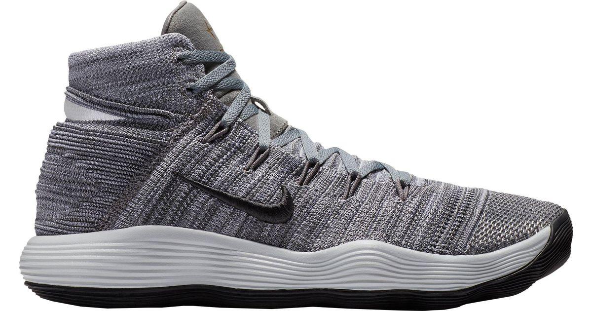 baff7652b2093 Lyst - Nike React Hyperdunk 2017 Flyknit Basketball Shoes in Gray for Men