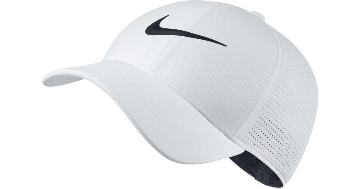 ccc94fbb3 Nike White 2018 Aerobill Legacy91 Perforated Golf Hat for men