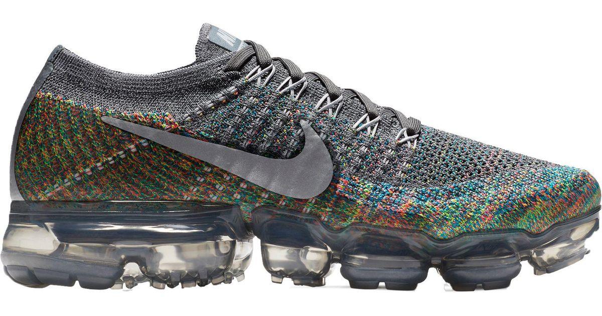 sale retailer 0478e 8f0b4 Nike Gray Air Vapormax Flyknit Running Shoes