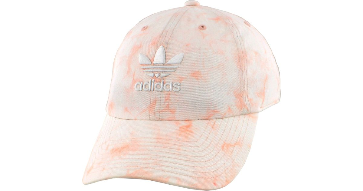 f3b73a5d adidas Originals Relaxed Tie Dye Strapback Hat in Pink - Lyst