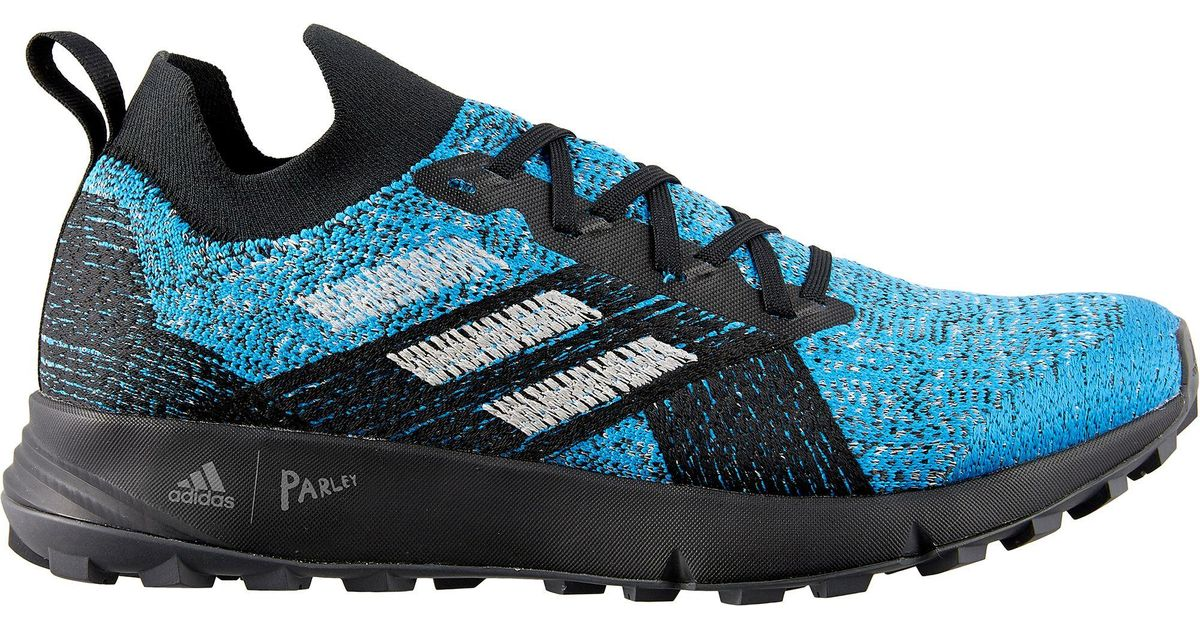 Adidas Blue Terrex Two Parley Trail Running Shoes for men
