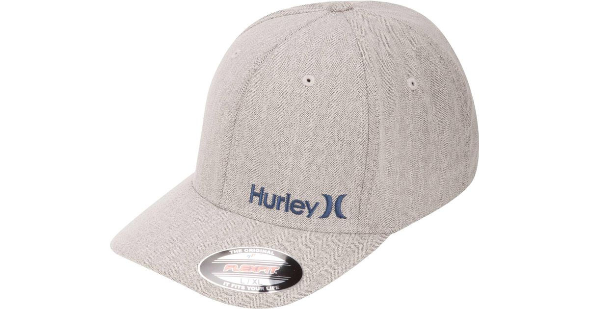 fbdbc3f21a9 Lyst - Hurley Corp Textures Flexfit Hat in Gray for Men