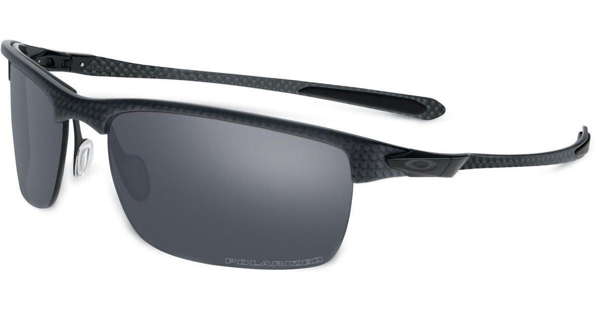 374675edd3e58 Lyst - Oakley Carbon Blade Polarized Sunglasses in Black for Men
