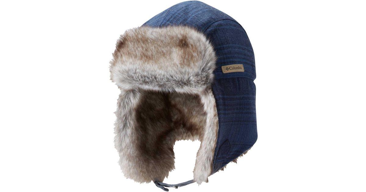 Lyst - Columbia Noble Falls Ii Trapper Hat in Blue for Men 9d11b61e689