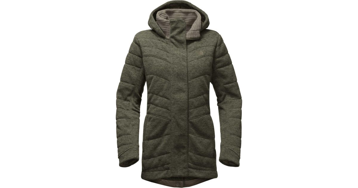 56a5096dd The North Face Green Indi Insulated Fleece Parka