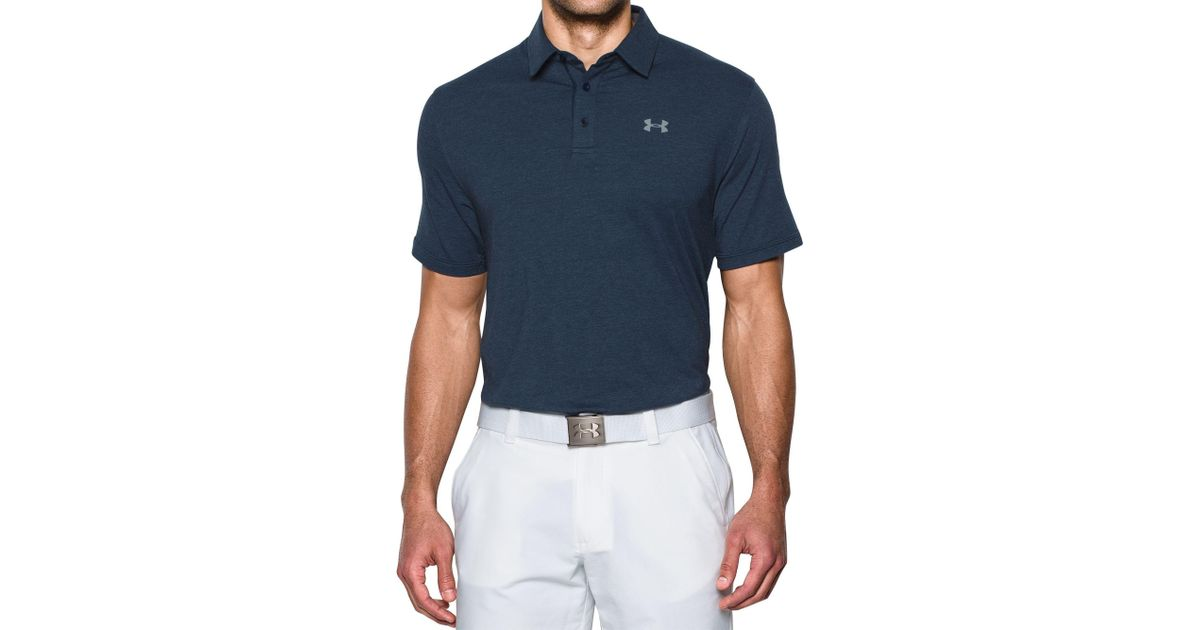 cc486b1f7d5b2 Lyst - Under Armour Charged Cotton Scramble Golf Polo - Big   Tall in Blue for  Men