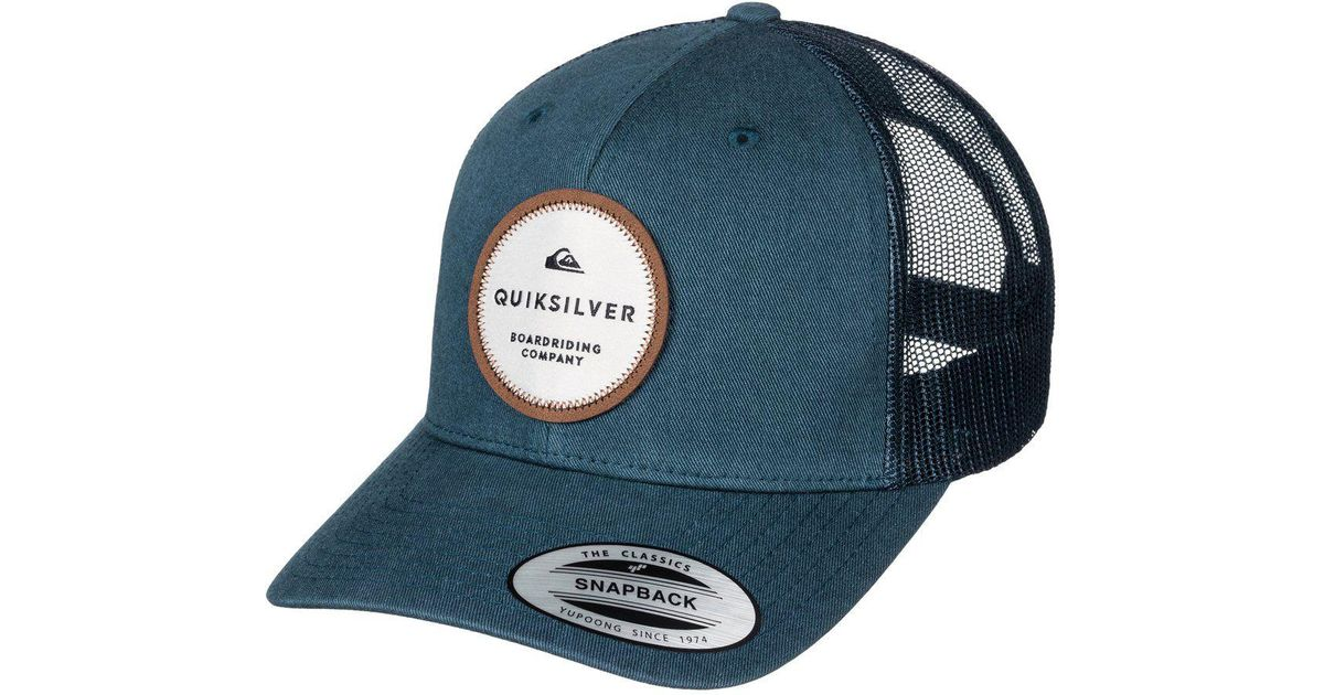huge selection of d1d9f 7d674 ... canada lyst quiksilver dunbar trucker hat in blue for men f9735 33044