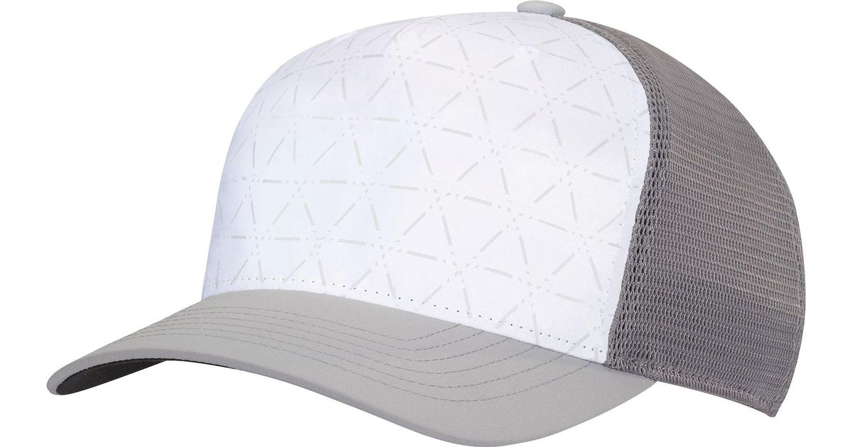 wholesale dealer 1fa05 5825b Adidas White Climacool Colorblock Mesh Golf Hat for men