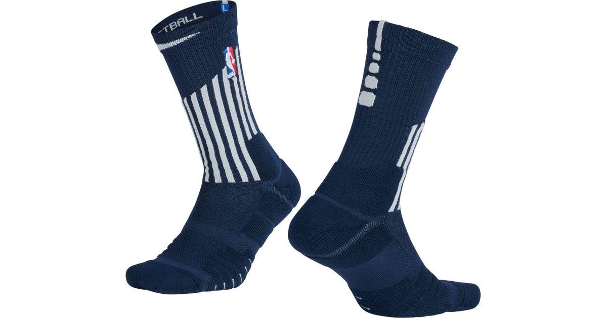 d6ec4295e Nike Detroit Pistons City Edition Elite Quick Nba Crew Socks in Blue for Men  - Lyst