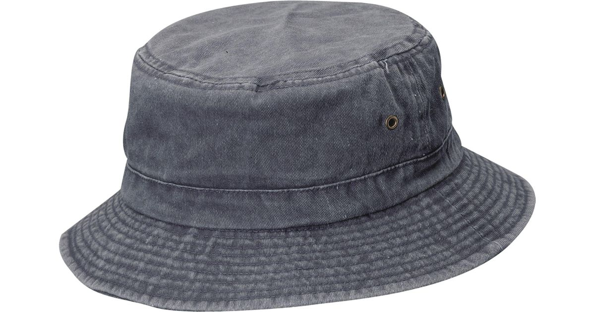 3578e5f97 Dorfman Pacific Blue Pigment Dyed Twill Bucket Hat for men