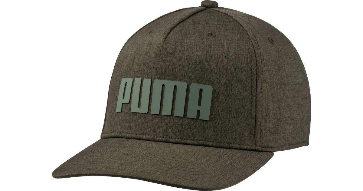 bc026ac706f Lyst - PUMA  gotime Flex Snapback Golf Hat in Green for Men