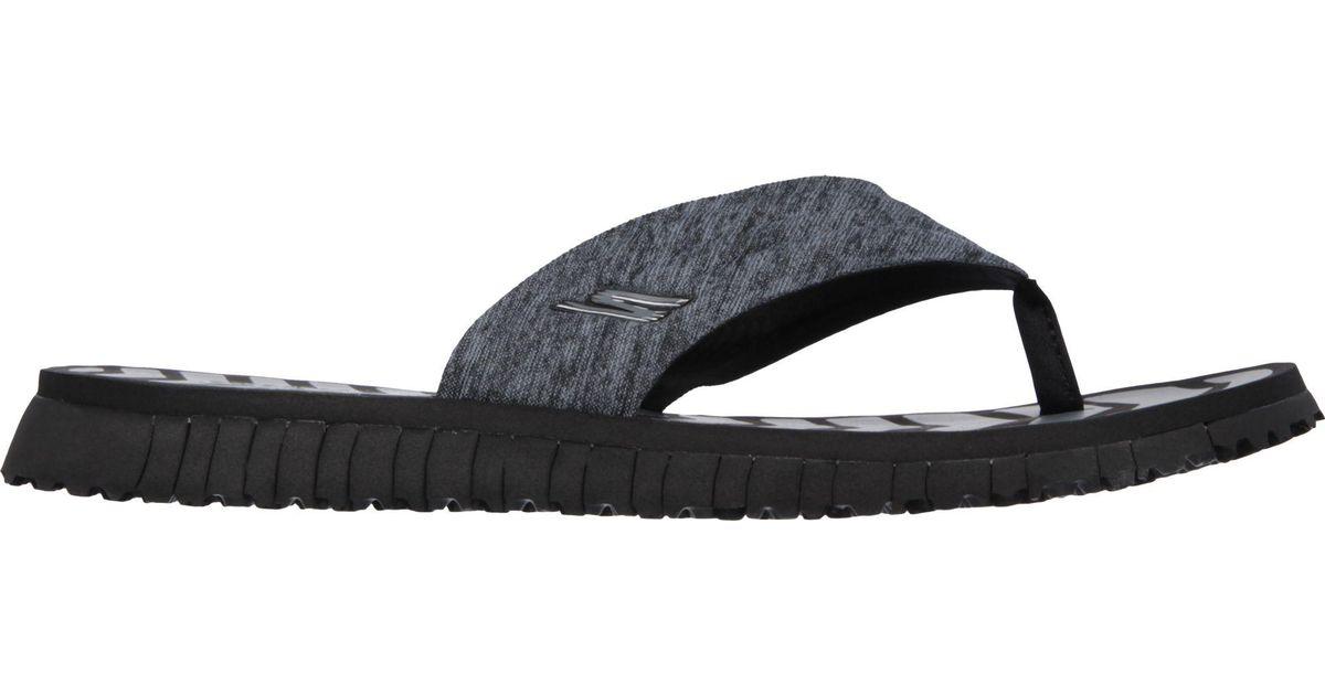de79d3dd7aa1 Lyst - Skechers Go Flex Vitality Flip Flops in Black