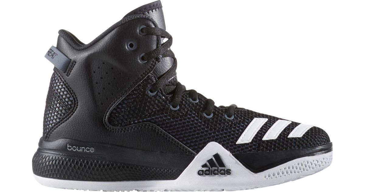 62799ee2ad71 ... purchase lyst adidas dual threat basketball shoes in black for men  407b5 8673c