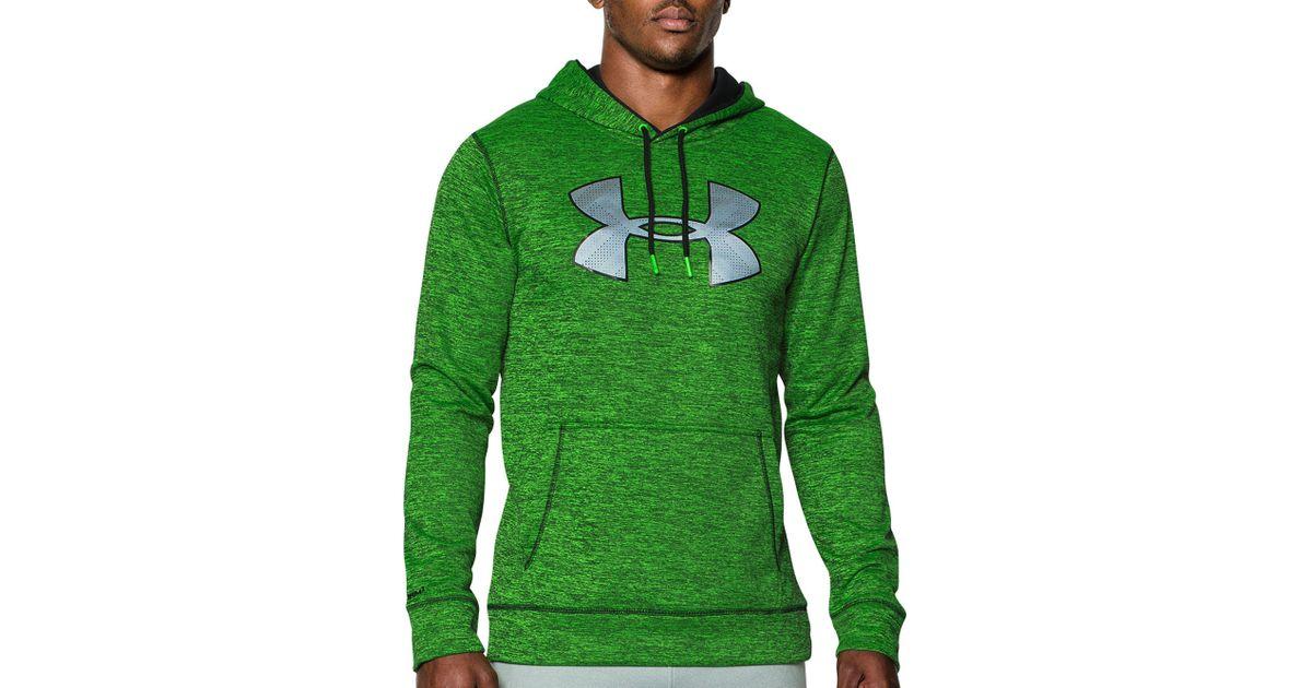 b2790f58a Under Armour Storm Armour Fleece Big Logo Twist Hoodie in Green for Men -  Lyst