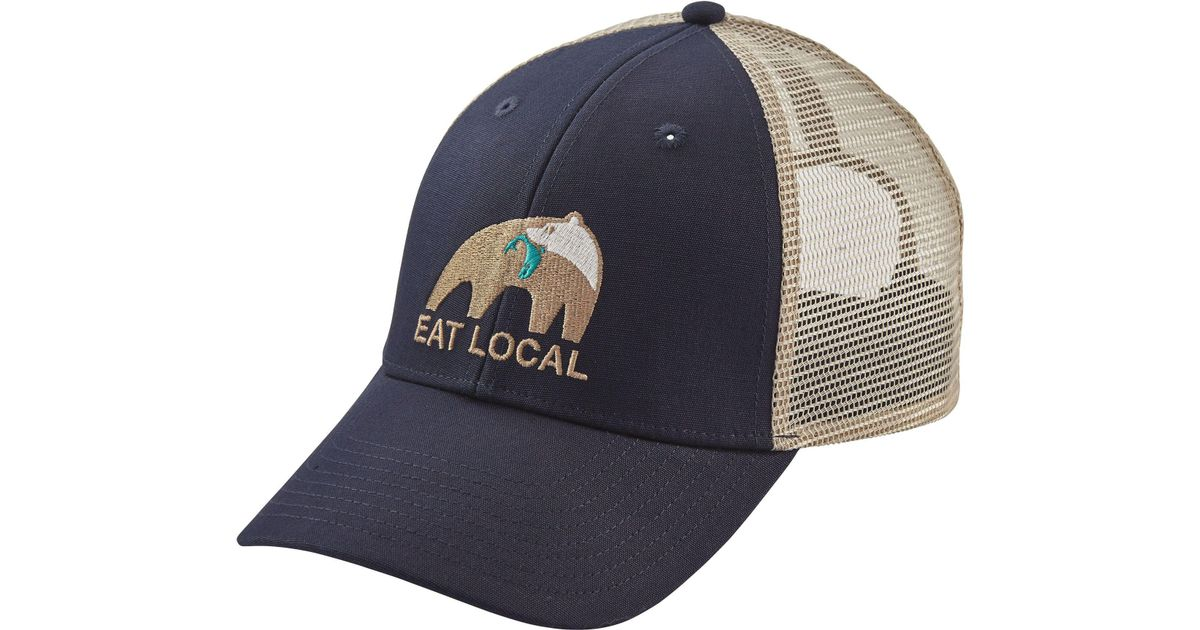 9b848178485 Lyst - Patagonia Eat Local Upstream Lopro Trucker Hat in Blue for Men