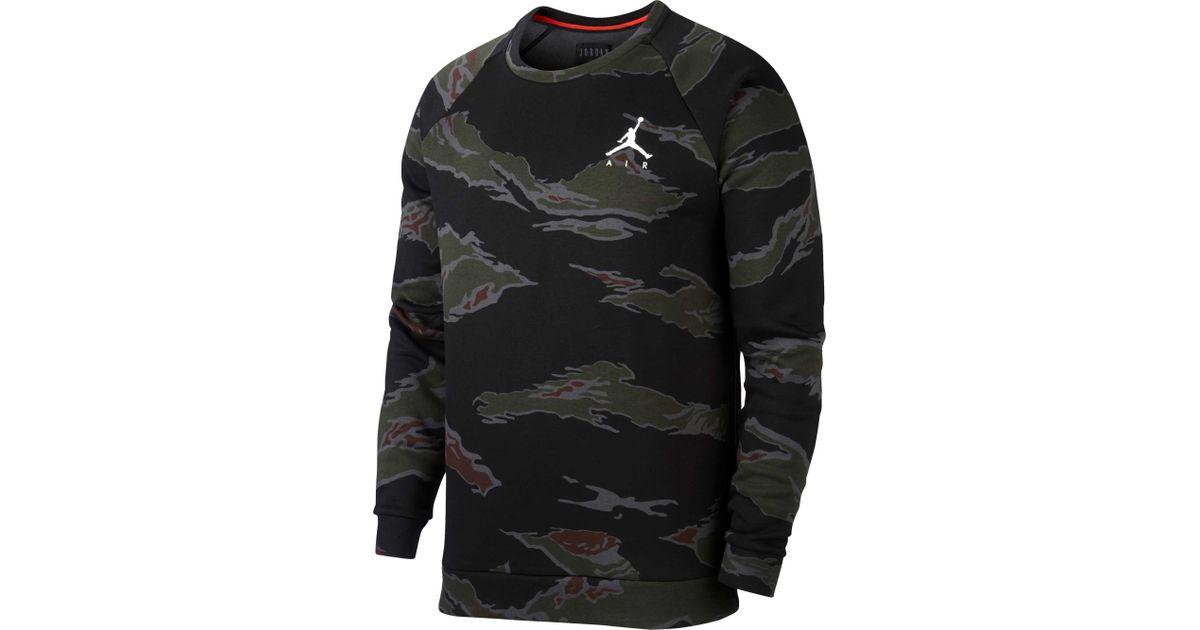 667b11d08d934b Lyst - Nike Jumpman Camo Fleece Pullover in Black for Men