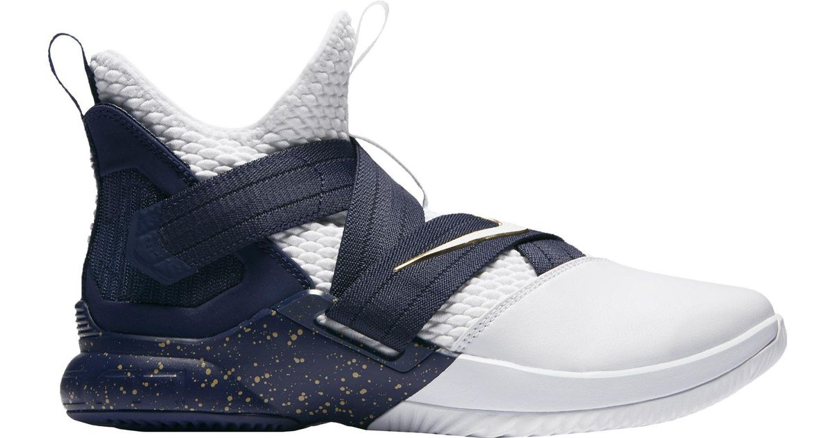 reputable site 2d193 73a34 Lyst - Nike Zoom Lebron Soldier Xii Basketball Shoes in Blue for Men