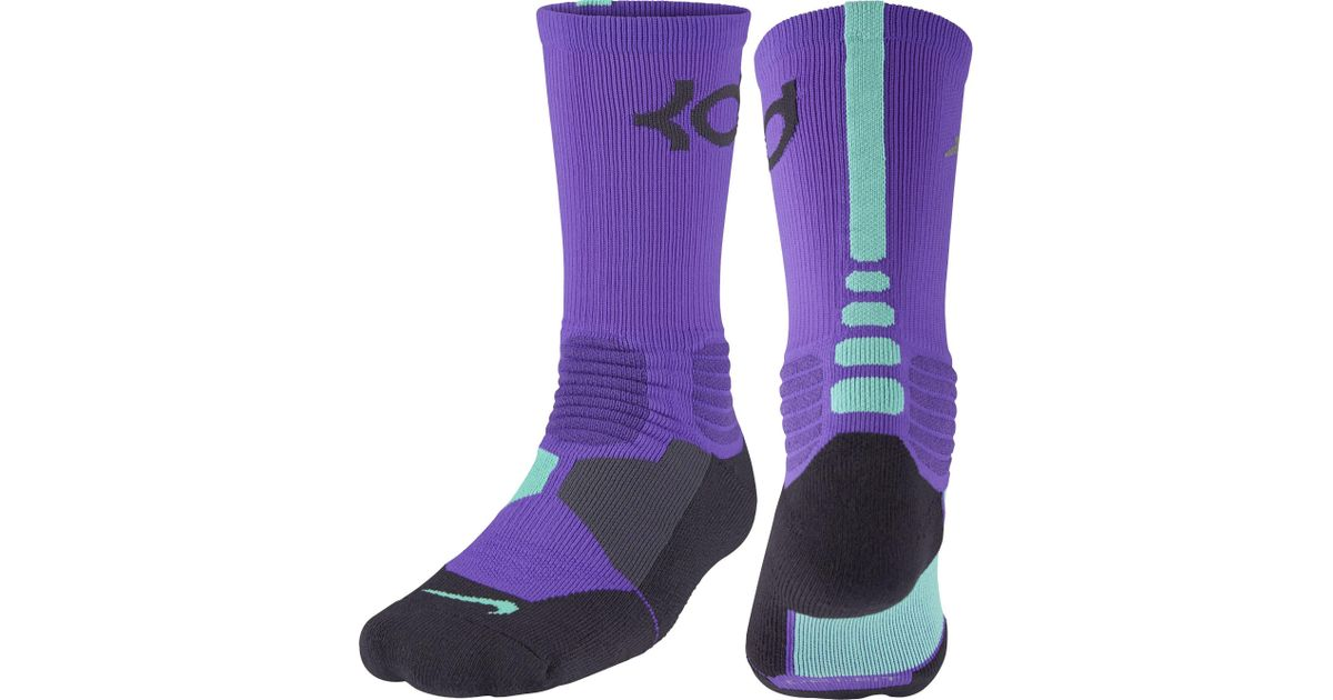patrulla dólar estadounidense templo  Nike Synthetic Kd Hyper Elite Crew Basketball Socks in Purple for Men - Lyst