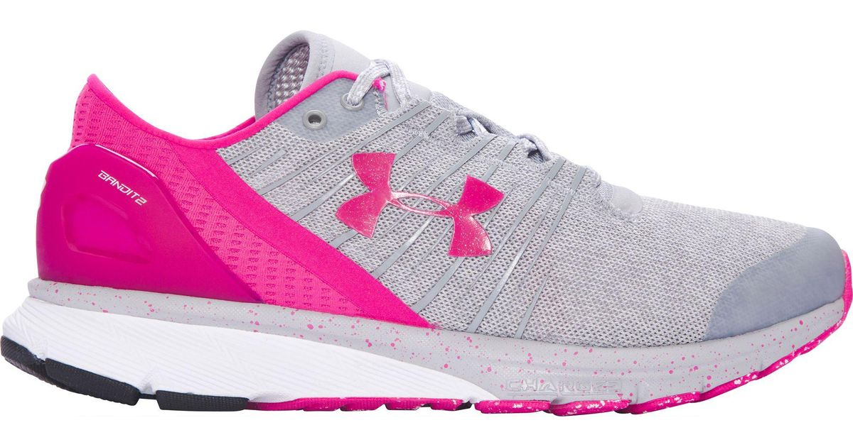new concept f587c 607ff Under Armour Pink Charged Bandit 2 Running Shoes
