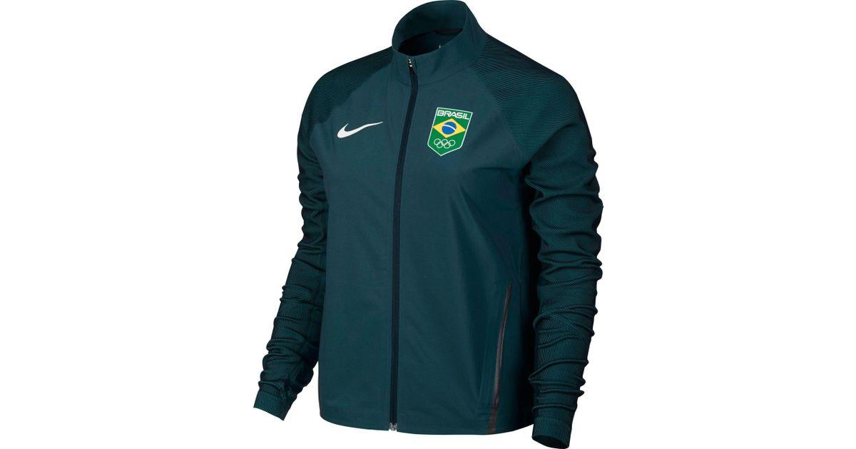 8c38921ad2c2 Lyst - Nike Team Brazil Flex Full Zip Running Jacket in Green