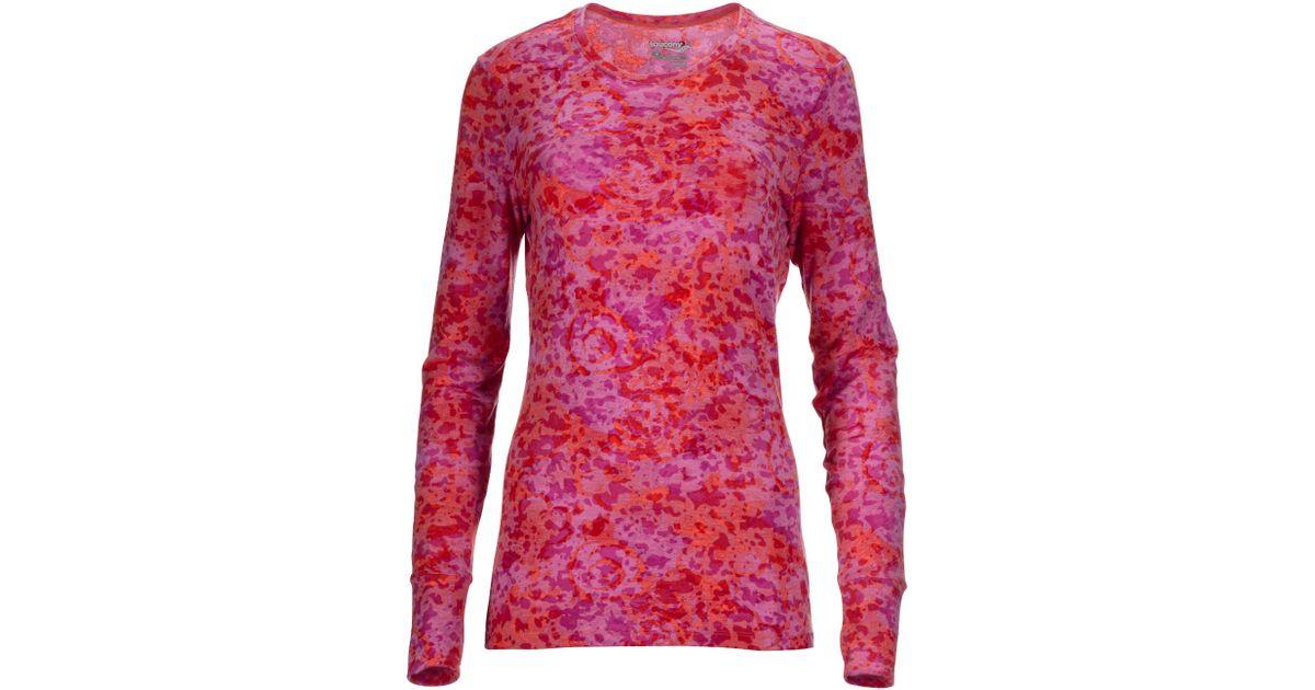 10ca735a57 Saucony Pink Daybreak Long Sleeve Running Shirt