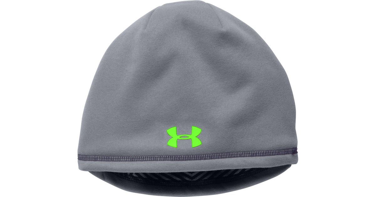 0b88e91f617 Lyst - Under Armour Coldgear Infrared Elements Storm 2.0 Beanie in Gray for  Men