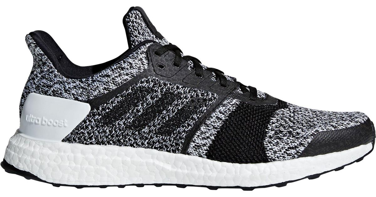 Adidas Black Ultraboost St Running Shoes for men