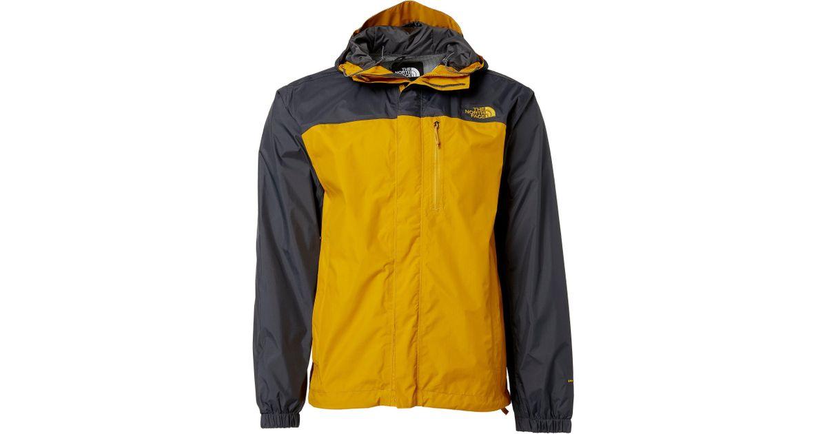 7a5221794489 ... sale lyst the north face stinson rain jacket in yellow for men 9e963  9ae9e