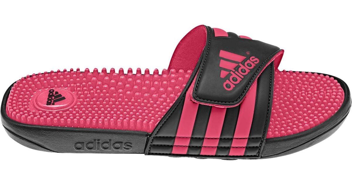 adidas Adissage Slides in Black/Pink