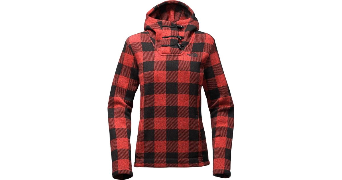 59a74c3ba The North Face Red Crescent Hooded Fleece Pullover