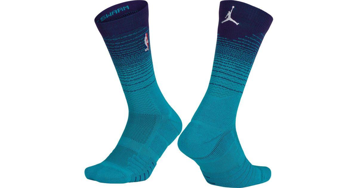 a96c91217 Nike Charlotte Hornets City Edition Elite Quick Nba Crew Socks in Blue for  Men - Lyst