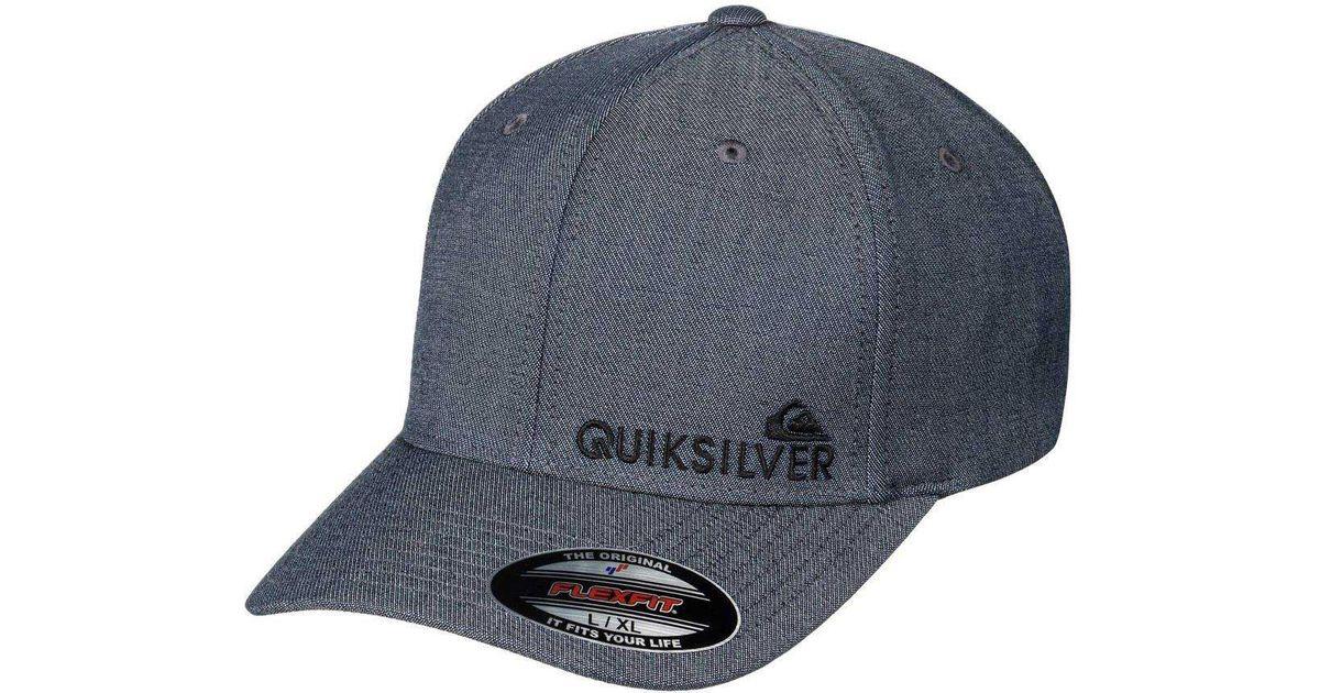 24f34d641ba99 ... reduced lyst quiksilver sidestay hdwr flexfit hat in gray for men f6e6d  e2215 ...