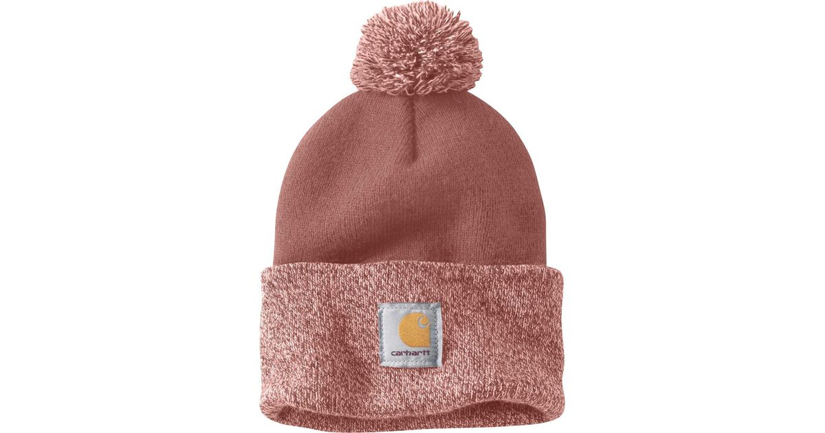 Lyst - Carhartt Lookout Pom Pom Hat in Red 4c1fe496c5f