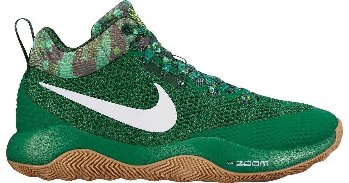8aa5547f136 Nike Green Zoom Rev 2017 Basketball Shoes for men