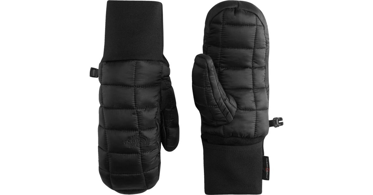 6880bd96b The North Face Black Thermoball Mittens for men