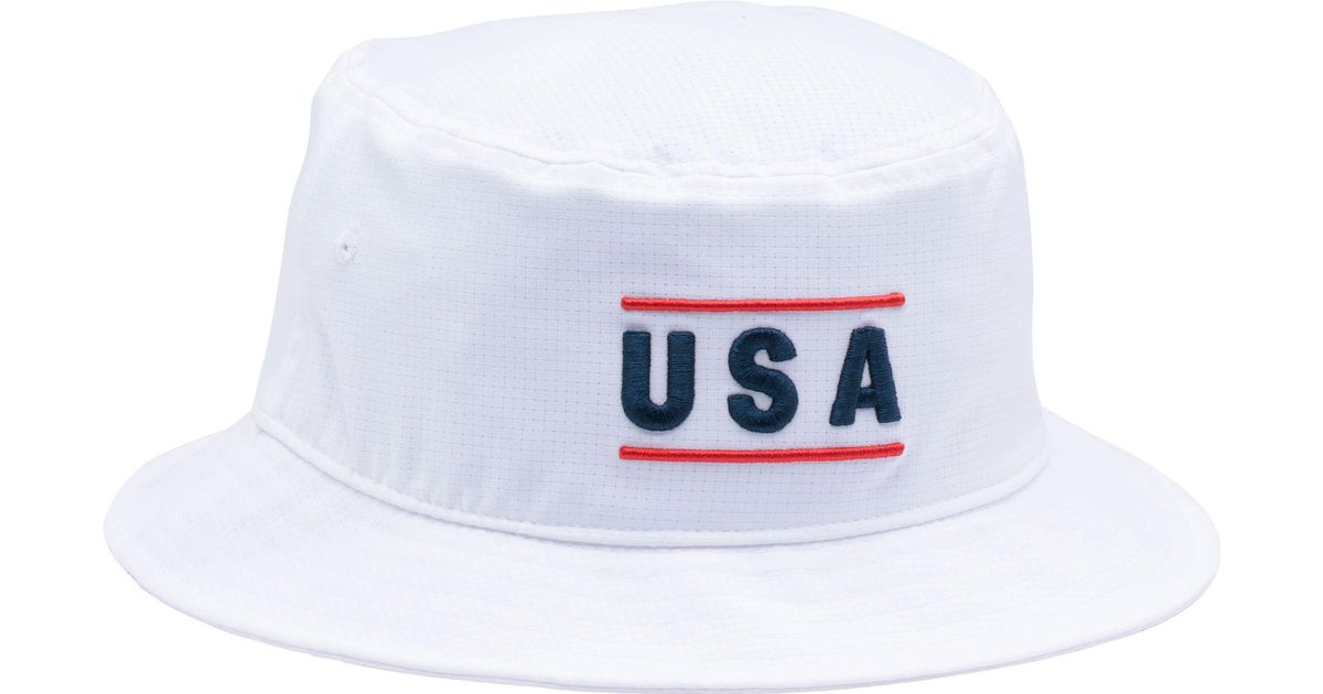d2b3695e300 ... low price lyst under armour armourvent usa graphic bucket hat in white  for men 279eb 99e85 ...
