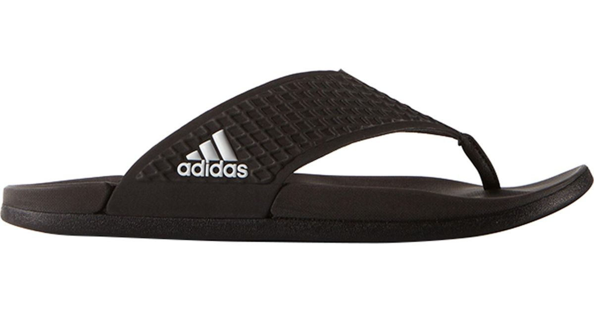 the latest 428b6 fbdc2 adidas Adilette Sc Plus Thong Flip Flops in Black for Men - Lyst