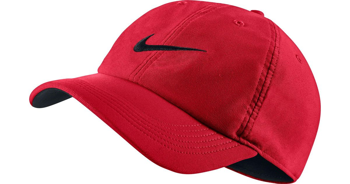 2cf8f7b89 Nike Red Twill H86 Adjustable Hat for men
