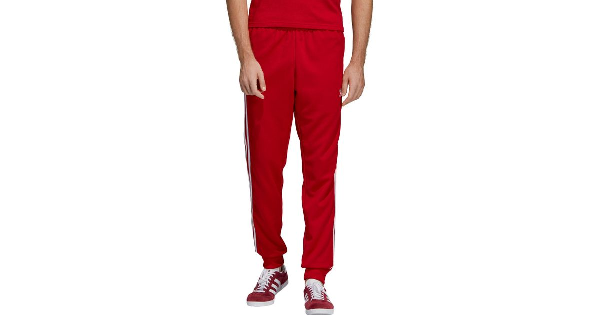 39b34823b2a Lyst - adidas Originals Superstar Track Jogger Pants in Red for Men