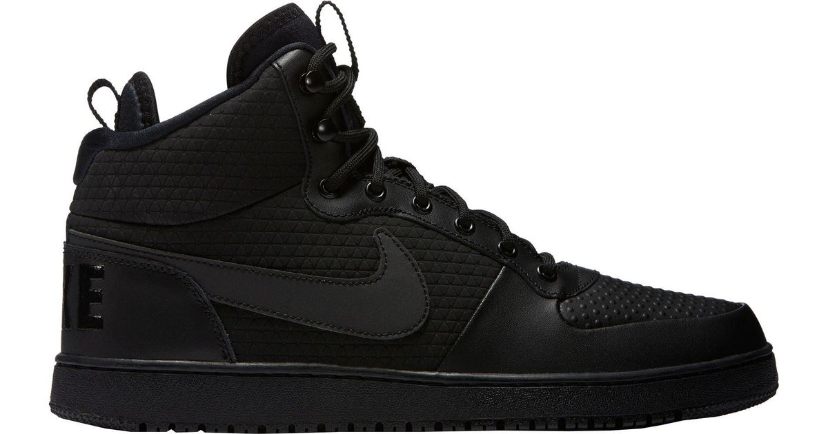 Lyst Nike Court Borough Mid Winter Shoes In Black For Men