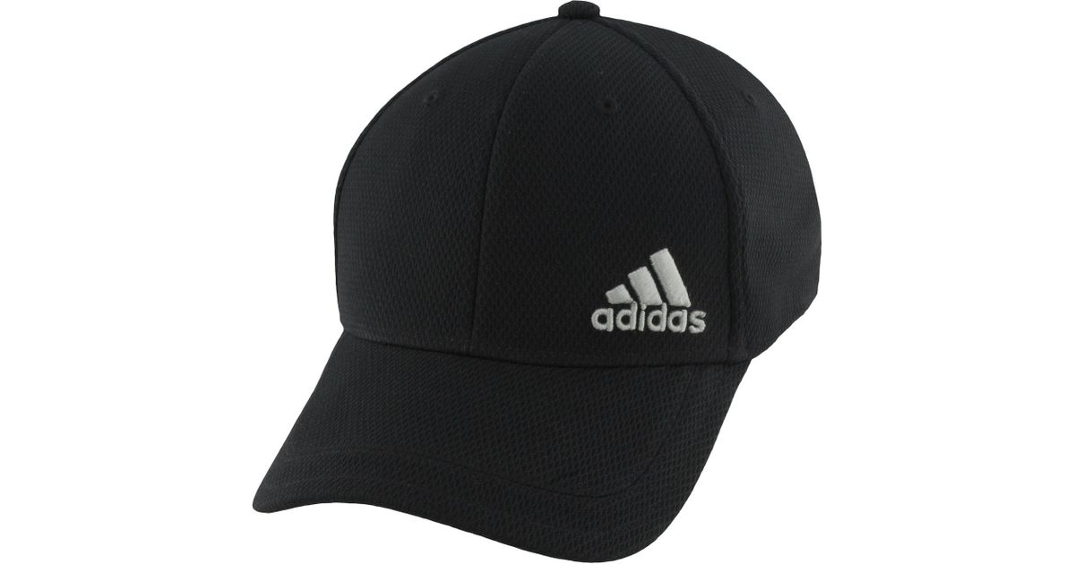 001056330 Adidas Black Release Stretch Fit Hat for men