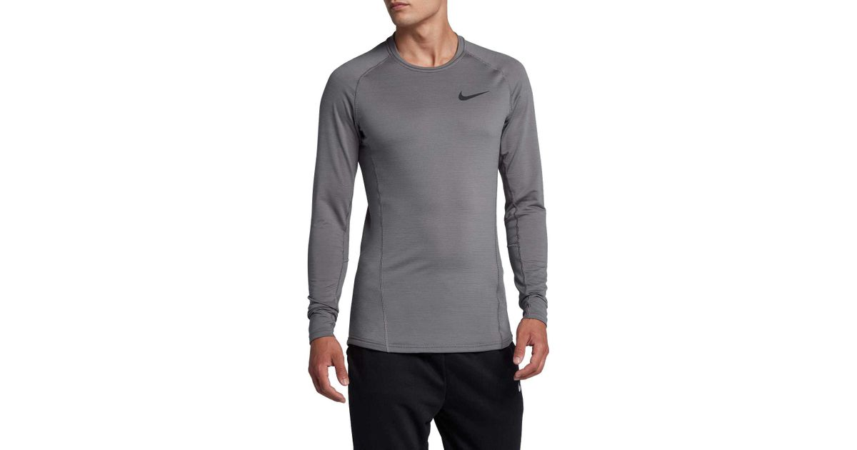 b0d8d80feb39 Lyst - Nike Pro Therma Dri-fit Long Sleeve Shirt in Black for Men