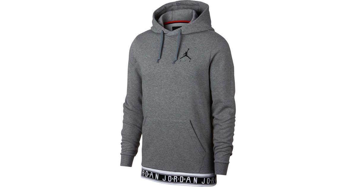 58cf7236754 Nike Jumpman Air Hbr Hoodie in Gray for Men - Save 9% - Lyst