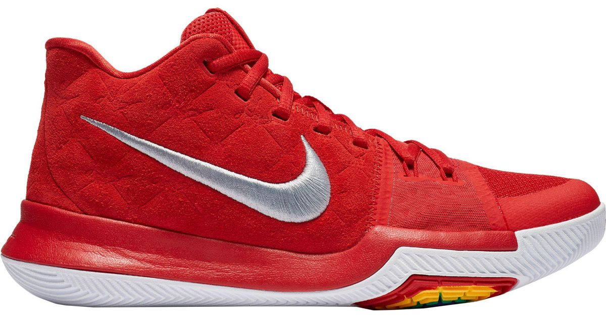 huge discount e7268 dc65d Nike Red Kyrie 3 Basketball Shoes for men