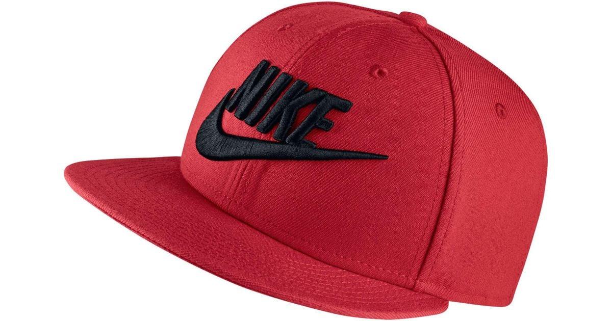 a21b7352 Nike Futura True 2 Snapback Hat in Red for Men - Lyst