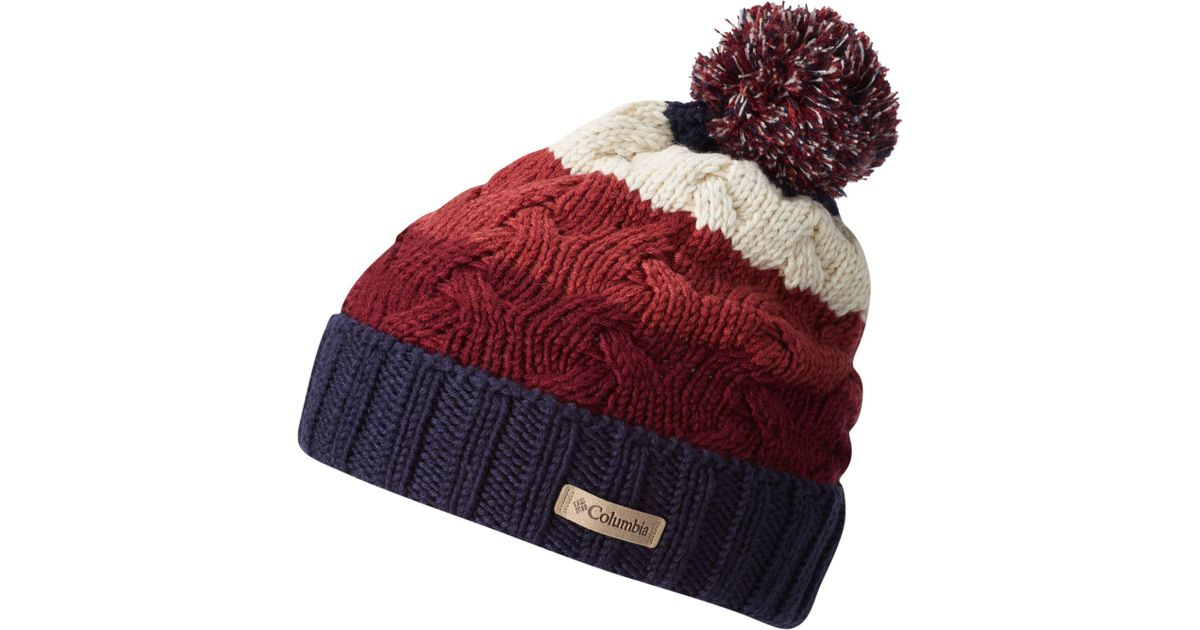Lyst - Columbia Carson Pass Beanie in Red 28c1c2200cb6