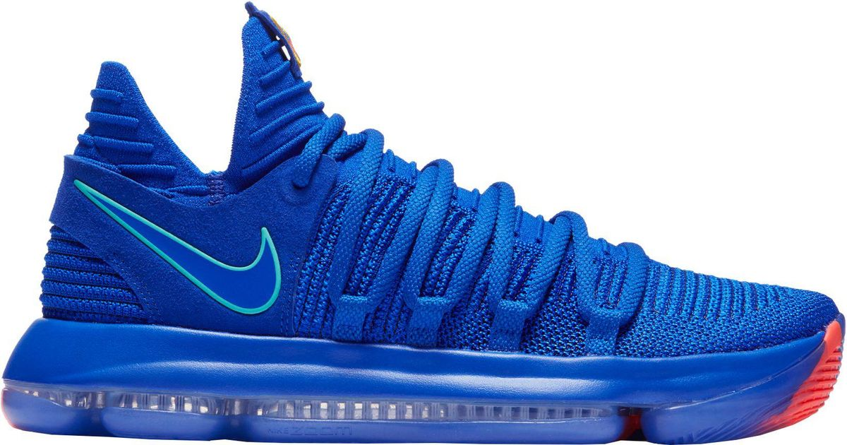 wholesale dealer e1e74 b2d8c Nike Blue Zoom Kd 10 Basketball Shoes for men