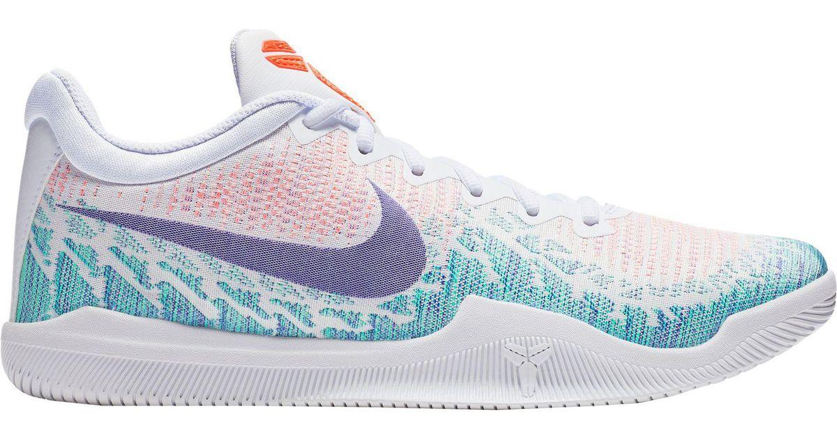 Nike White Kobe Mamba Rage Basketball Shoes for men
